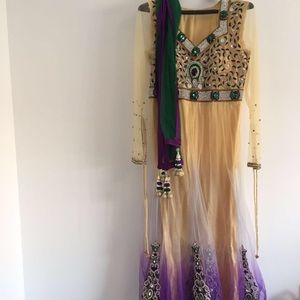 Dresses & Skirts - Purple & Gold Bridal Anarkali Indian Pakistani